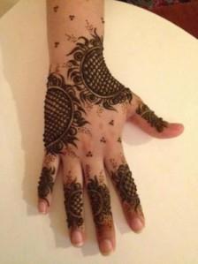 Arabic style Mehandi Art